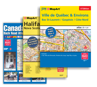 maps roads street atlas publications for travel canada mapart